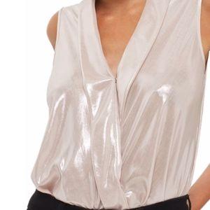TOPSHOP Drape Metallic Bodysuit
